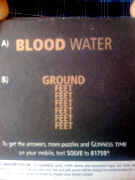 A) Blood is thicker than water B) 6 feet under ground