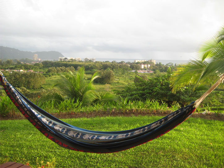 The view from our room, complete with hammock